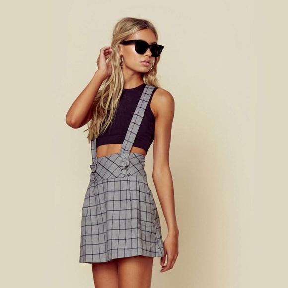 Planet Blue Dresses & Skirts - New plaid overall skirt